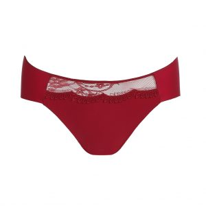 close up of Marie Jo Agatha Rio Brief in Rumba Red