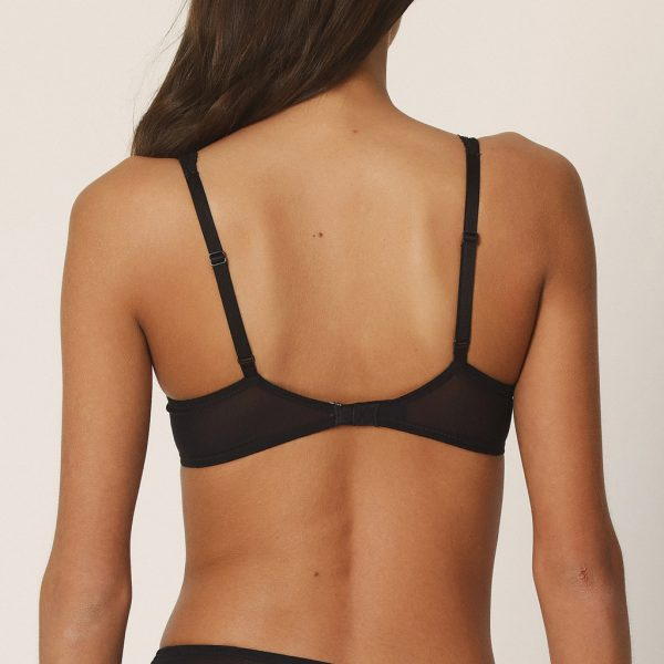 back view of Marie Jo Erika Padded Balcony Bra in Black