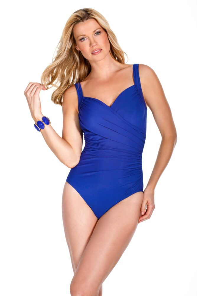 6d8f3c4e9a Miraclesuit Must Haves Sanibel Swimsuit in Electric Blue ...