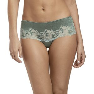 buy the Wacoal Lace Affair Tanga in Balsam Green/Slate