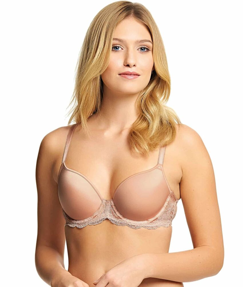 Wacoal Lace Affair Contour Bra in Rose Dust/Angel Wing ...