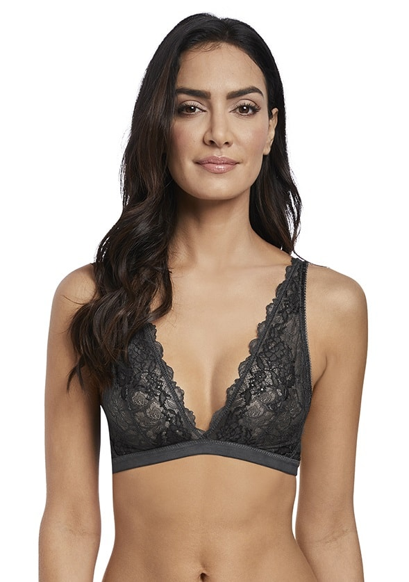 f3705d11c58be Wacoal Lace Perfection Bralette in Charcoal - Victoria s Little Bra Shop