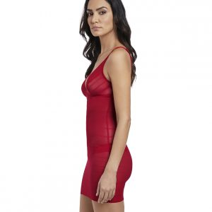 side view of Wacoal Sexy Shaping Dress in Rouge