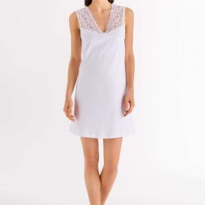 buy the Hanro Moments Sleeveless Cotton Nightdress in White
