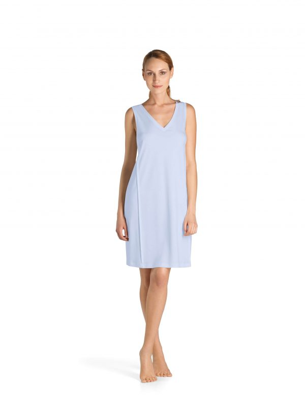 buy the Hanro Pure Essence Sleeveless Nightdress in Blue Glow