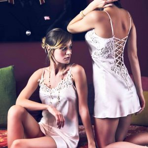 buy the Marjolaine Fabia Silk Chemise in Natural