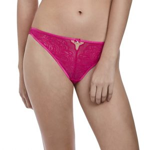 buy the b.tempt'd Undisclosed Thong in Pink Peacock