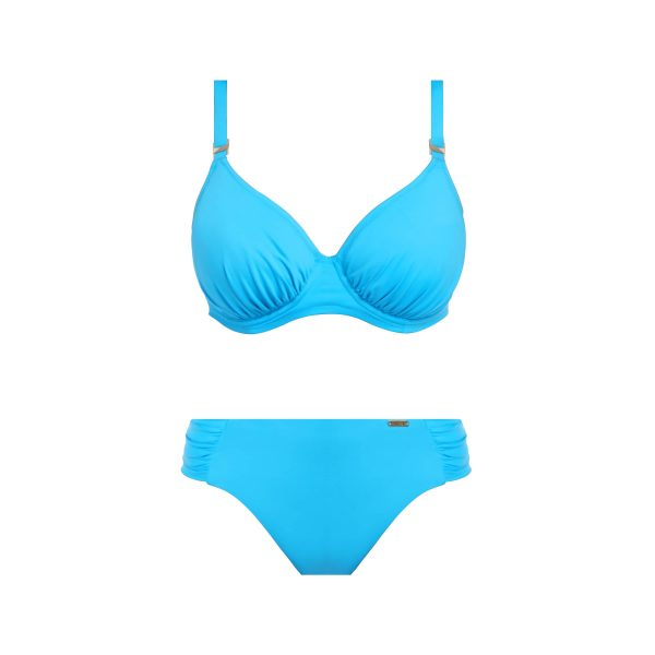 close up of Fantasie Paradise Bay Bikini Set in Aqua