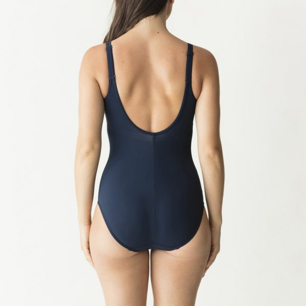 back view of PrimaDonna Swim Pop Padded Swimsuit in Blue Eclipse