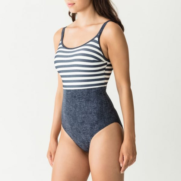side view of PrimaDonna Swim California Padded Swimsuit in Blue Legend