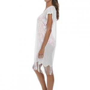 side view of Fantasie Antheia Tunic in White