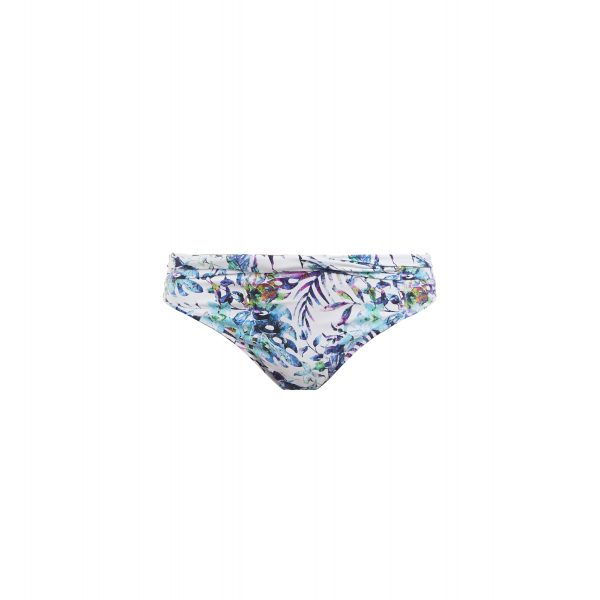 close up of Fantasie Fiji Bikini Set in Aqua Multi classic twist brief