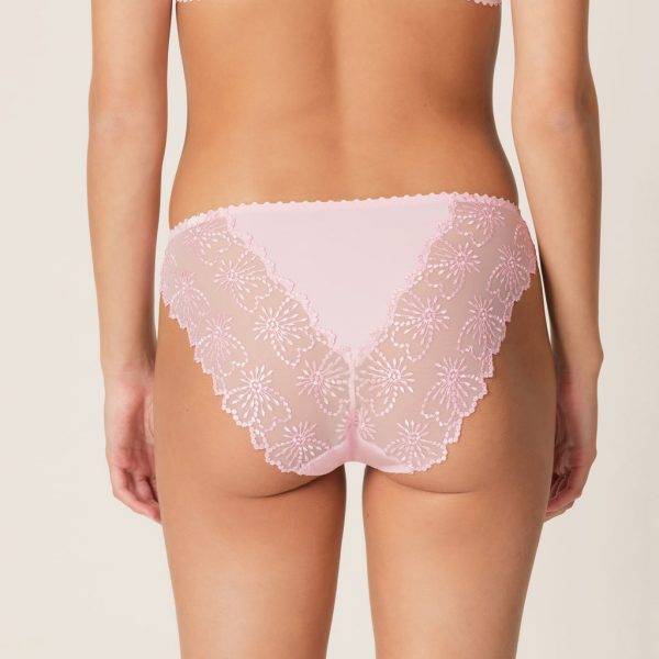 back view of Marie Jo Jane Italian Brief in Lily Rose
