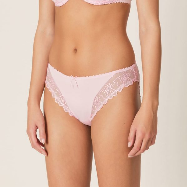 side view of Marie Jo Jane Italian Brief in Lily Rose