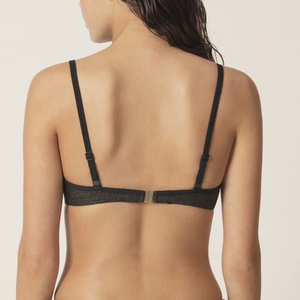 back view of Marie Jo Swim Ornella Bikini Set in Noir Doré balcony bikini top