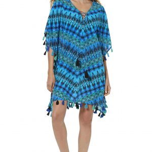 buy the Miraclesuit Cabana Chic Caftan in Blue