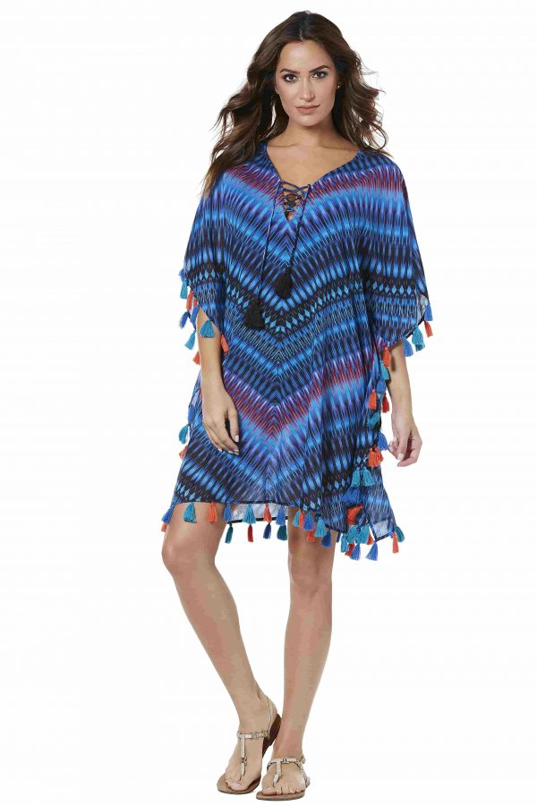 buy the Miraclesuit Marrakech Caftan in Blue