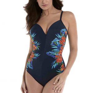 buy the Miraclesuit Samoan Sunset Temptation Swimsuit in Midnight