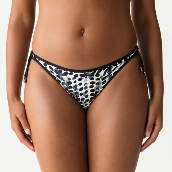 PrimaDonna Swim Road Trip Bikini Set in Blue Print tie side brief