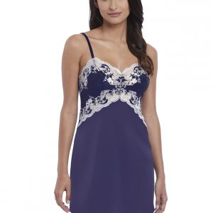 buy the Wacoal Lace Affair Chemise in Patriot Blue