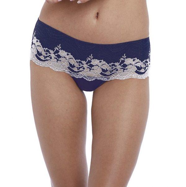 buy the Wacoal Lace Affair Tanga in Patriot Blue