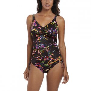 buy the Fantasie Palawan Adjustable Leg Swimsuit in Black