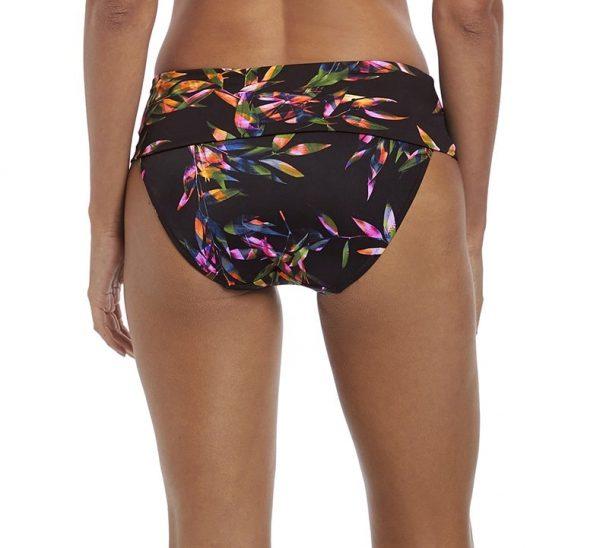 back view of Fantasie Palawan Bikini Set in Black classic fold brief
