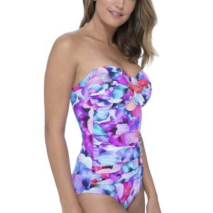 side view of Gottex Profile Pocket Full Of Posies Swimsuit in Multi