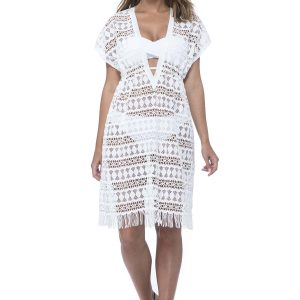 buy the Gottex Profile Tutti Frutti Crochet Dress in White