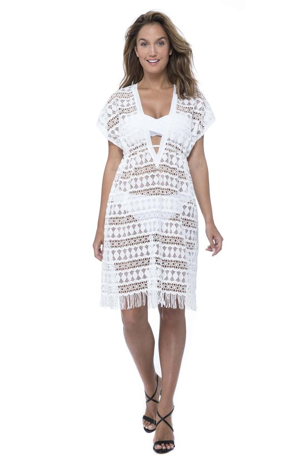 buy the Gottex Profile Tutti Frutti Crochet Dress in White