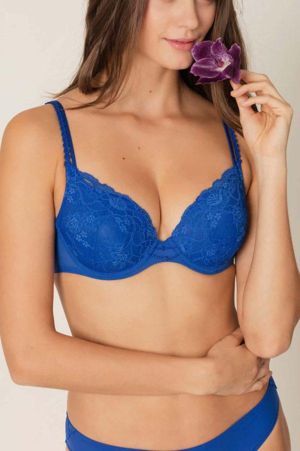buy the Marie Jo Madelon Padded Bra in Blue Print
