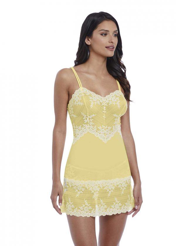 buy the Wacoal Embrace Lace Chemise in Lemon Ivory