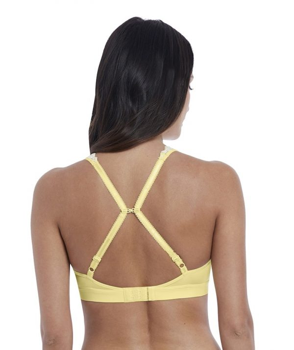racer back Wacoal Embrace Lace Soft Bra in Lemon Ivory