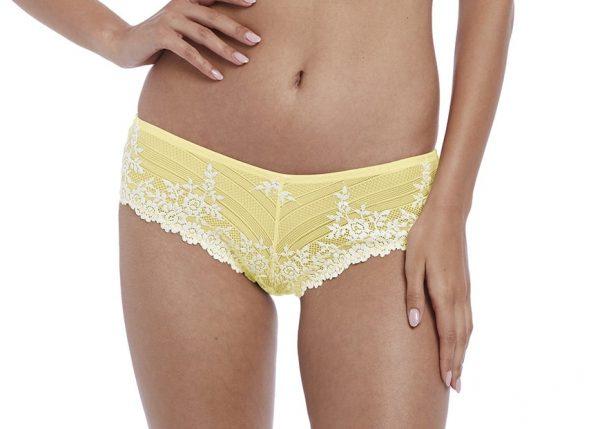 buy the Wacoal Embrace Lace Tanga in Lemon Ivory