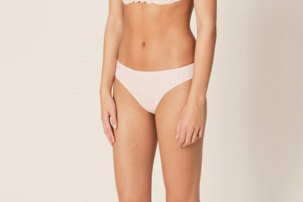 side view of Marie Jo Avero Rio Brief in Pearly Pink