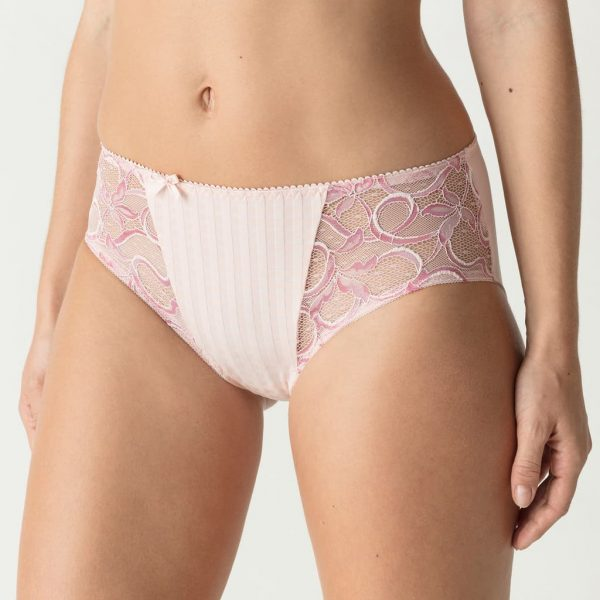 side view of PrimaDonna Madison Full Brief in Pearly Pink
