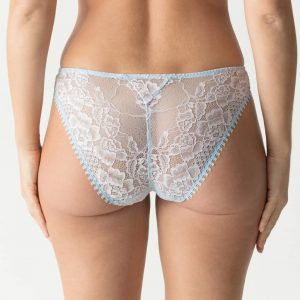 back view of PrimaDonna Twist Wild Rose Italian Brief in Cloud