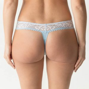back view of PrimaDonna Twist Wild Rose Thong in Cloud