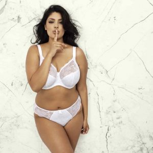 buy the elomi morgan banded bra in white