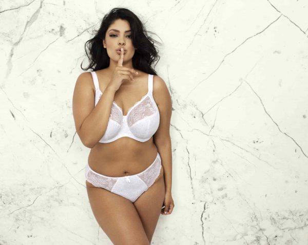 buy the elomi morgan banded bra in white