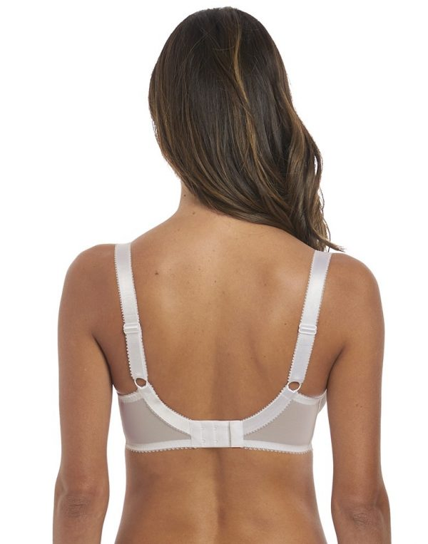 back view of Fantasie Lena Side Support Bra in White