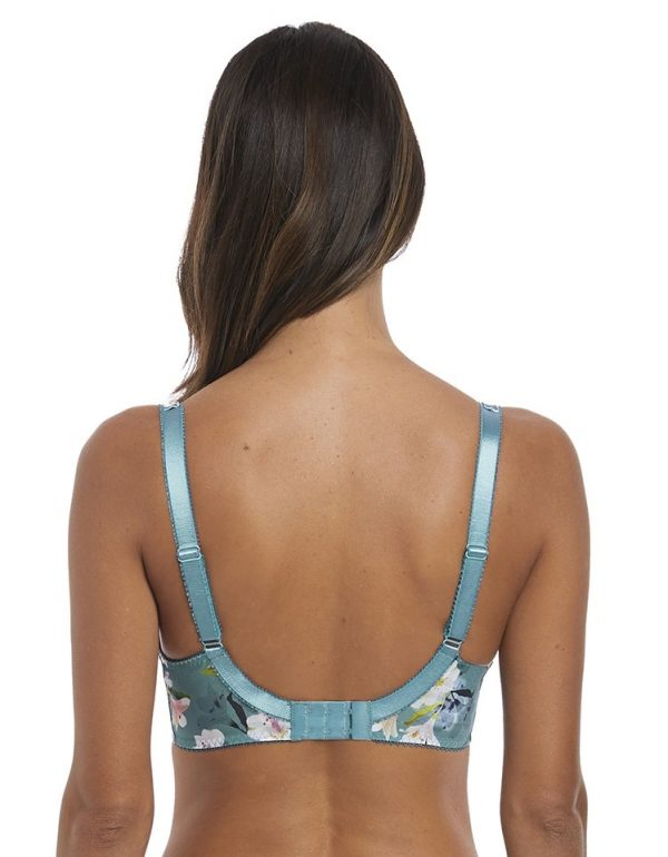 back view of Fantasie Camilla Side Support Bra in Jade