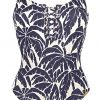 buy the Watercult Club Coco Swimsuit in Indigo Cream