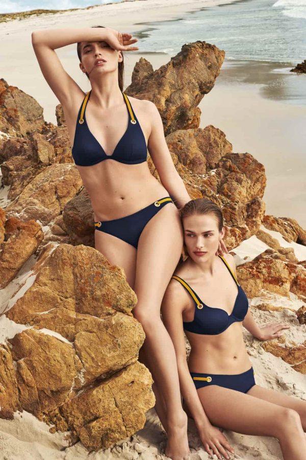 wearing the Marie Jo Swim Claudia Bikini Set in Blue Water
