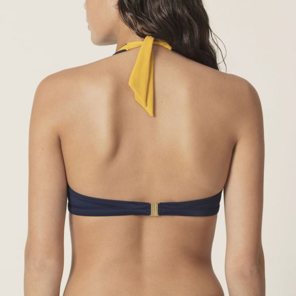 back view of Marie Jo Swim Claudia Bikini Set in Blue Water bikini top