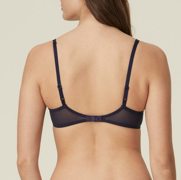 back view of Marie Jo Sakura Balcony Bra in Evening Blue