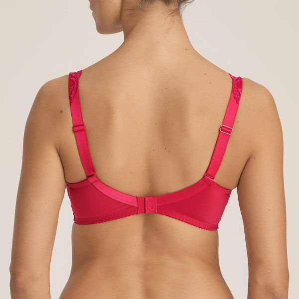back view of PrimaDonna Madison Full Cup Bra in Persian Red