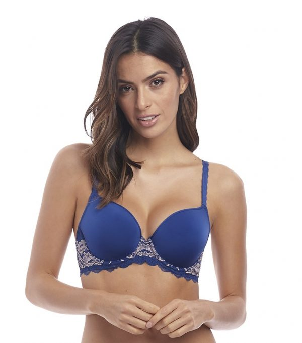 buy the Wacoal Lace Perfection Contour Bra in Sapphire Blue