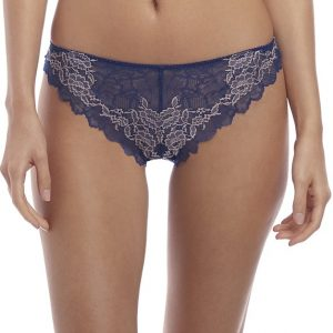 buy the Wacoal Lace Perfection Tanga in Sapphire Blue