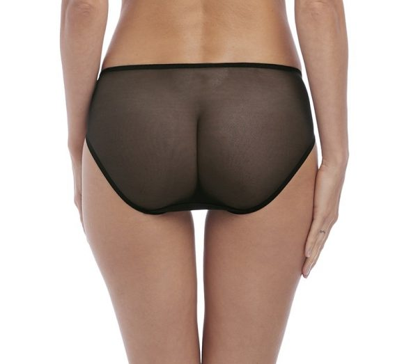 back view of Wacoal Lace to Love Brief in Black